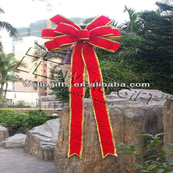 Red Velvet Gaint Outdoor Decoration Bow for Christmas