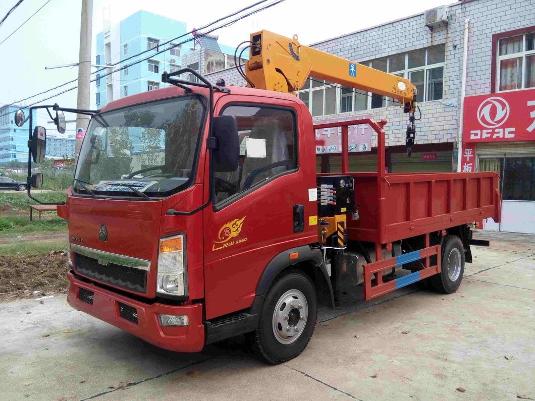 Sinotruk Light Cargo Truck with Telescopic Book 2 Ton Crane