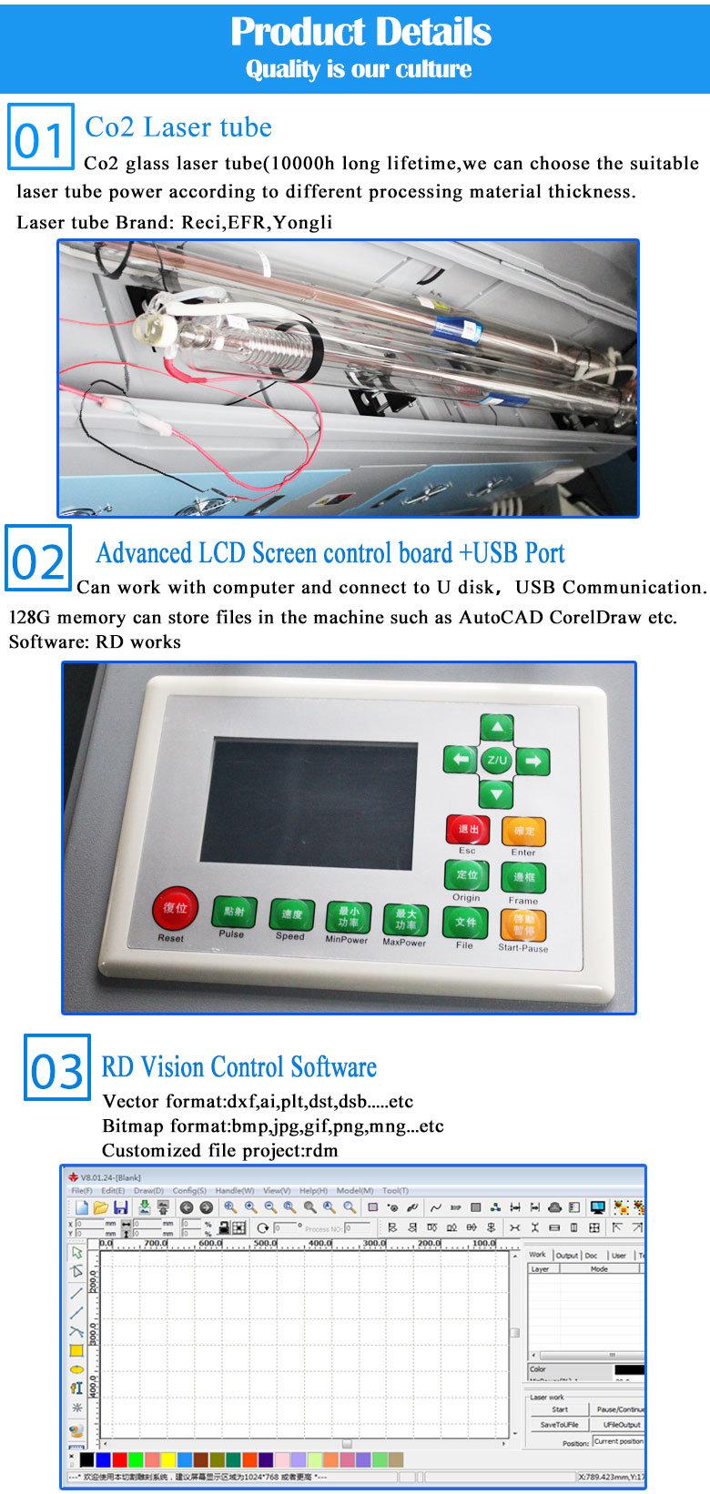 2018 New Design 80W 100W 150W Automatic Feeding CO2 Laser Cutting Engraving Machine