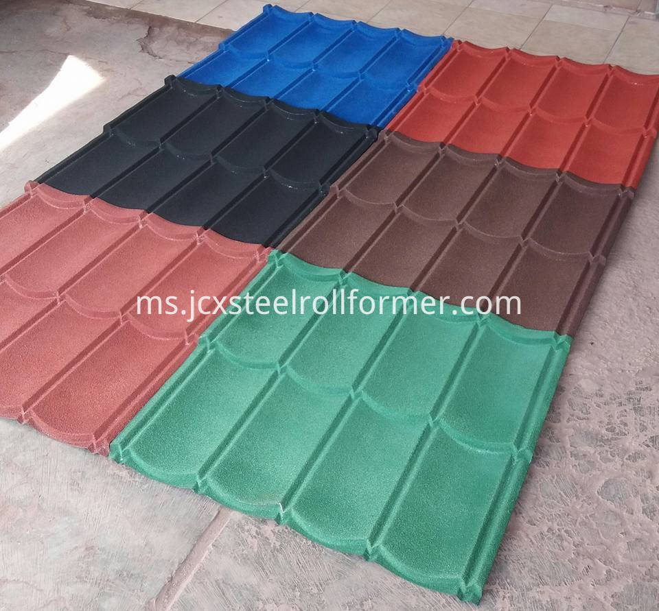 Jubin Roofed Coated Warna