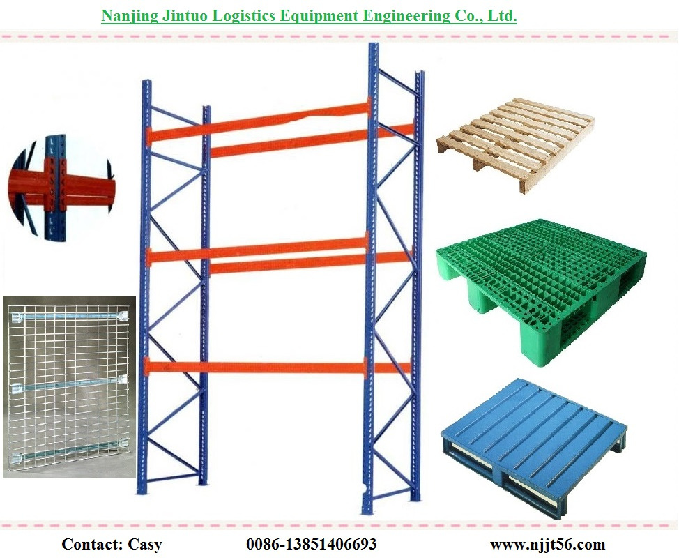 Heavy Duty Wire Mesh Pallet Shelving for Warehouse Storage