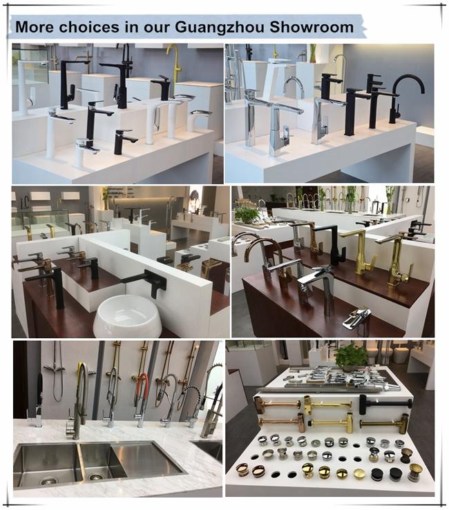 Jd-S5051 Contemporary Sqaure Shape SS304 Floor Standing Bathtub Faucet