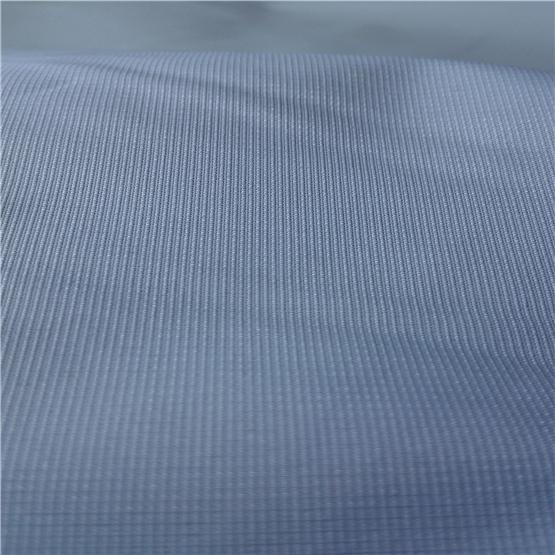 Water & Wind-Resistant Anti-Static Sportswear Woven Peach Skin 100% Striped Jacquard Polyester Fabric Grey Fabric Grey Cloth (63030H)