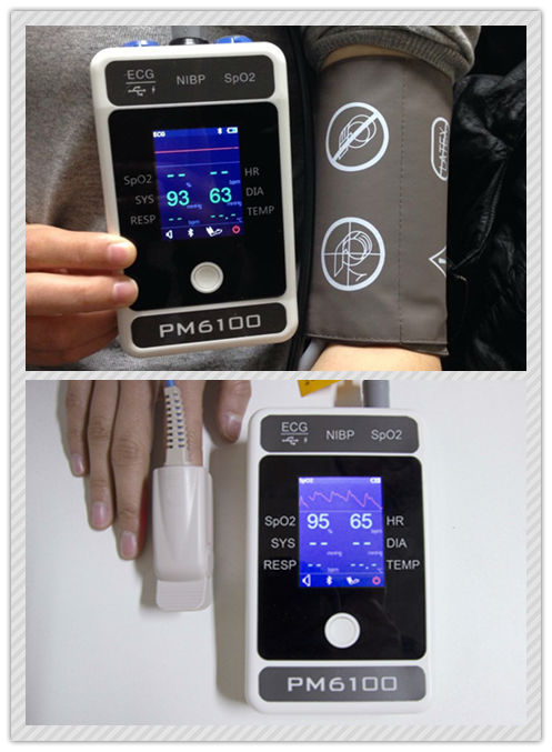 Berry NIBP & SpO2 Tabletop Patient Monitor Device (with sensors off function)