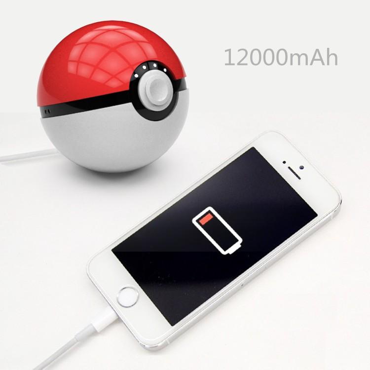 2016 Potable Large Capacity Pokemon Go Poke Ball Power Bank Pokemon Power Bank Magic Ball Power Bank