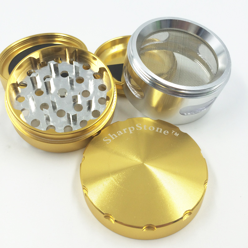 Top Quality Transparent Window Tobacco Accessories Cigarette Smoking Grinder (ES-GD-023)