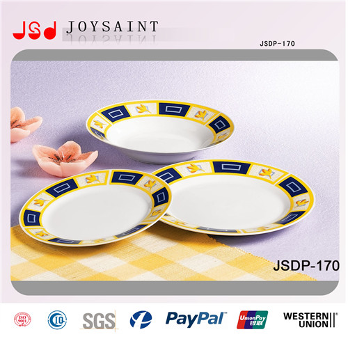 Wholesale Simple Design Round Shape Dinner Sets in Porcelain Dishware