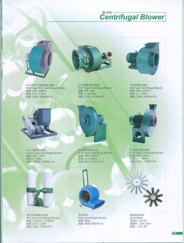 Centrifugal Fan/ Dust Remove Fan/High Pressure Fan