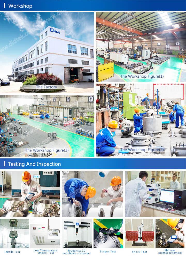 Didtek China Manufacturer Metal Seated Cast Steel Trunnion Ball Valve