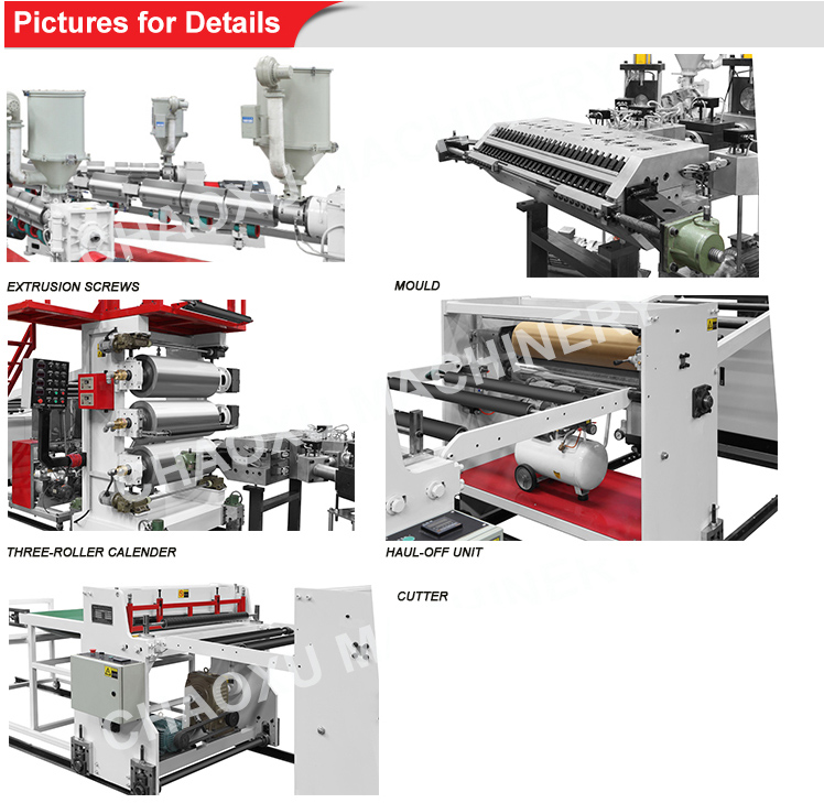 Factory Machine Trolley Travel ABS PC Plastic Sheet Extruder Machine