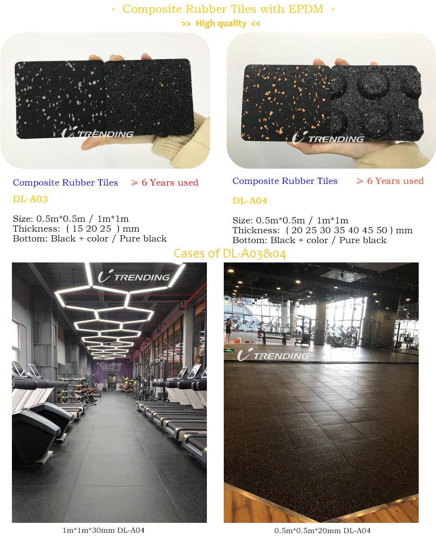 Gym Center Indoor Rubber Roll Flooring Tile Mat