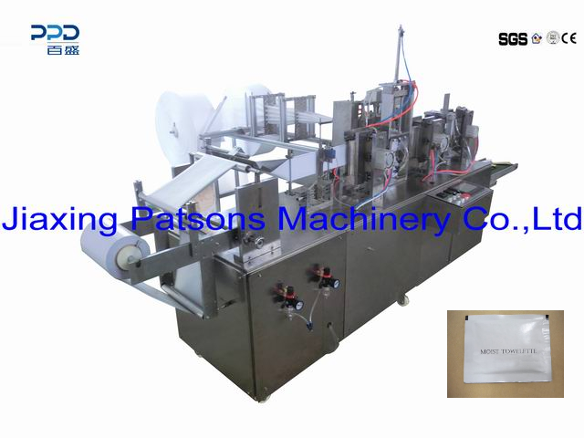 New Arrival 4 Side Sealing Towelette Manufacturing Machine