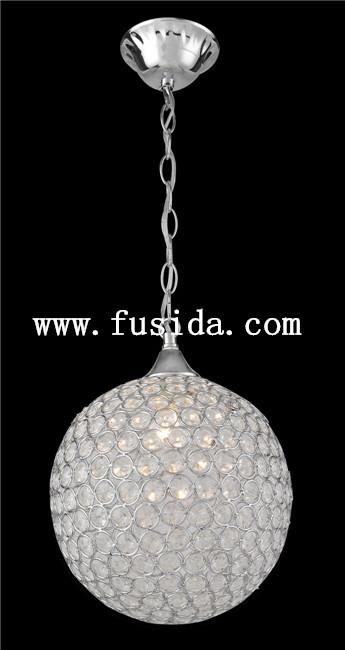 New Design Modern One Light Crystal Pendant Light