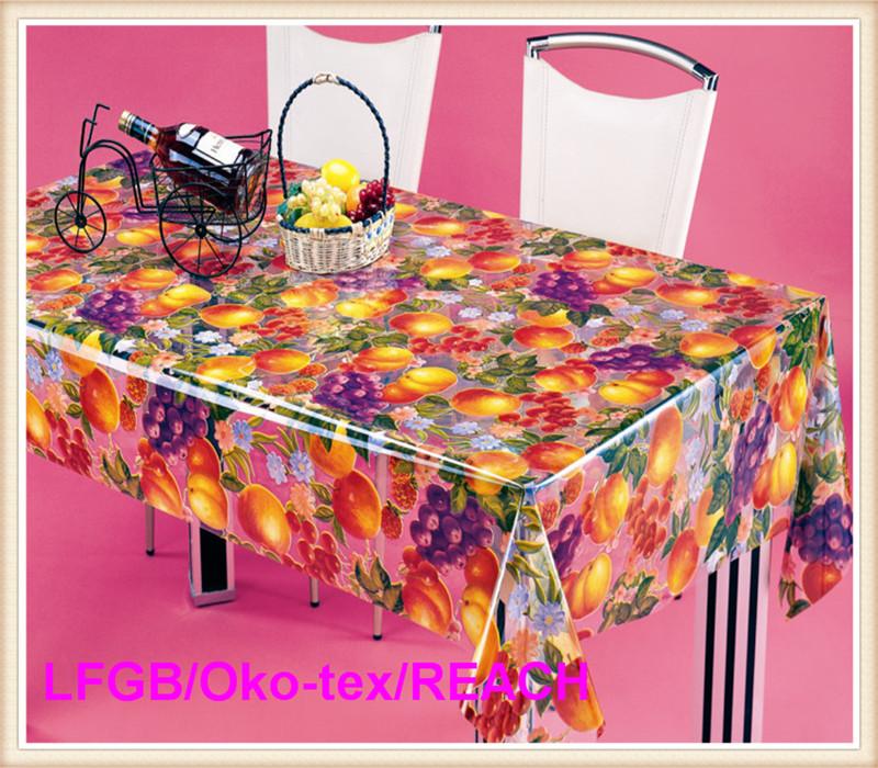 PVC Printed Clear Tablecloths Wholesale Hot Sale