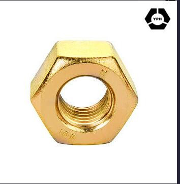DIN439 Hex Thin Nut Yellow Zinc