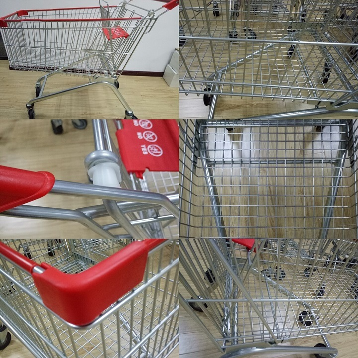 High Quality Wholesale and Retail Japan Style Shopping Cart Trolley with Wheel