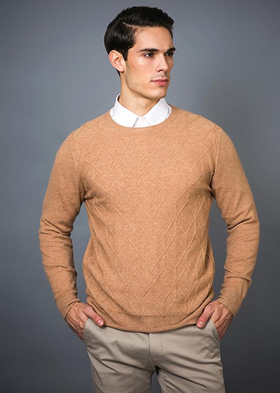 Men's Fashion Cashmere Blend Sweater 17brpv077