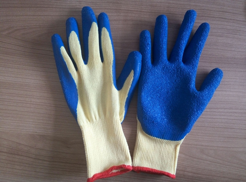 21 Gauge Yarn Latex Palm Coated Work Glove
