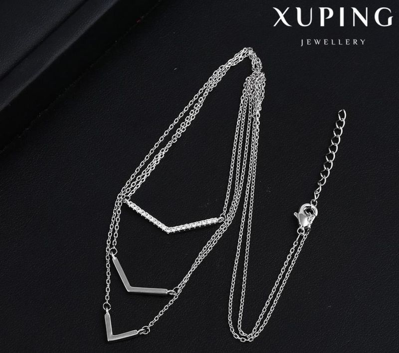 Necklace-00103 Fashion Promotional Cubic Zirconia Jewelry Necklace