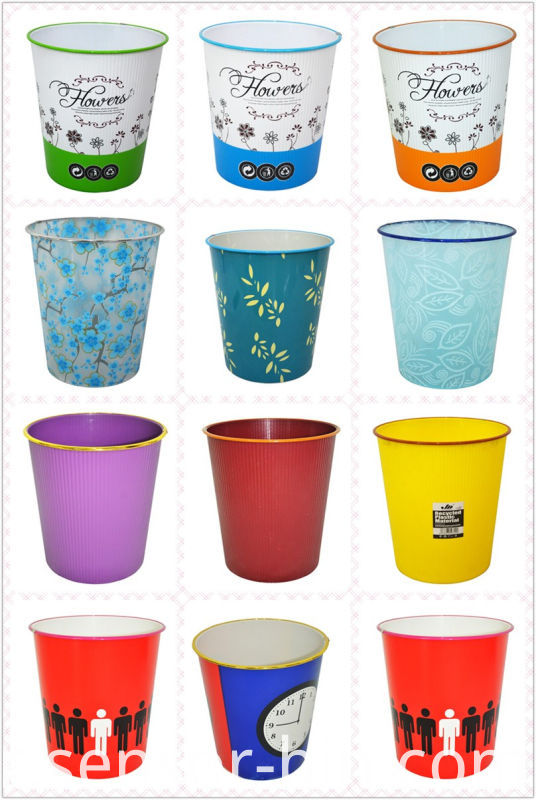 Hot Selling Plastic Open Top Waste Bin