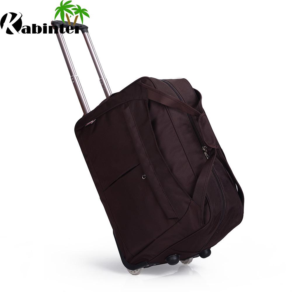 Wheeled Duffle Bag Travel Luggage Trolley Bag Oxford Duffle
