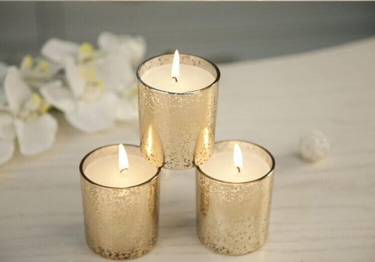Gold Glass Fragrance Candles