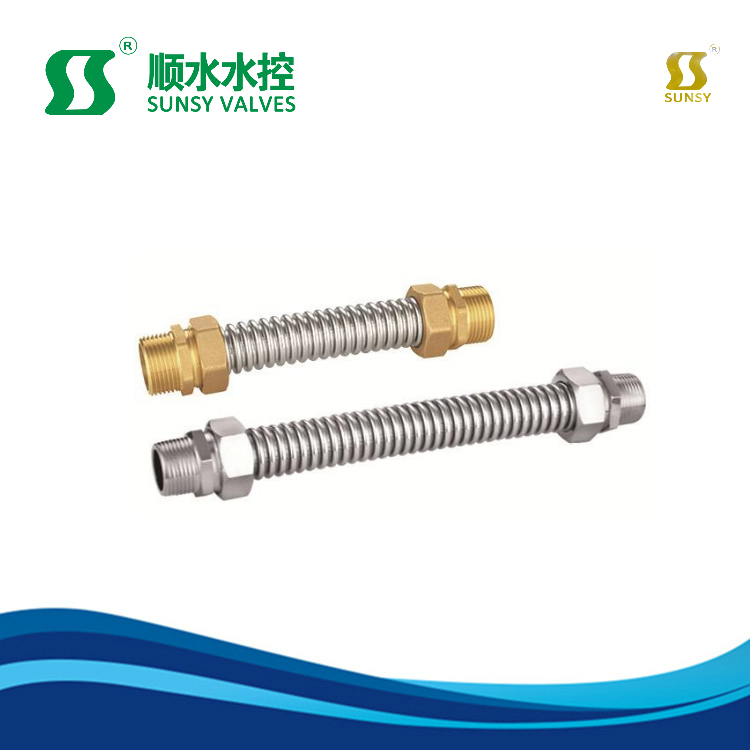 Air Condition Iron Connectors Bellows /Brass Fitting/Brass Connector Metal with Stainless Steel Material Iron/Copper Bellows Pipe Fittings Corrugated Pipe
