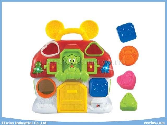 Educational Musical Monkey House Education Blocks Toys