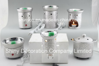 15CE23905 Silver Plated Plug in Night Light Warmer