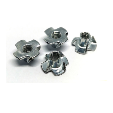 DIN1624 tee nuts with pronge