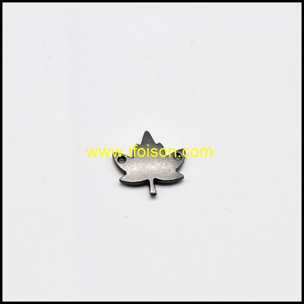 Leaf shape Metal Label for Bag and Garment