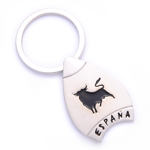 Souvenir Gift Spain Keyring Metal Key Holder for Espana (F1104)