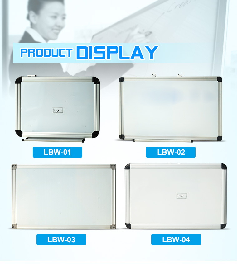 80*100 Whiteboard Drywipe Magnetic with Pen Tray and ABS Corner