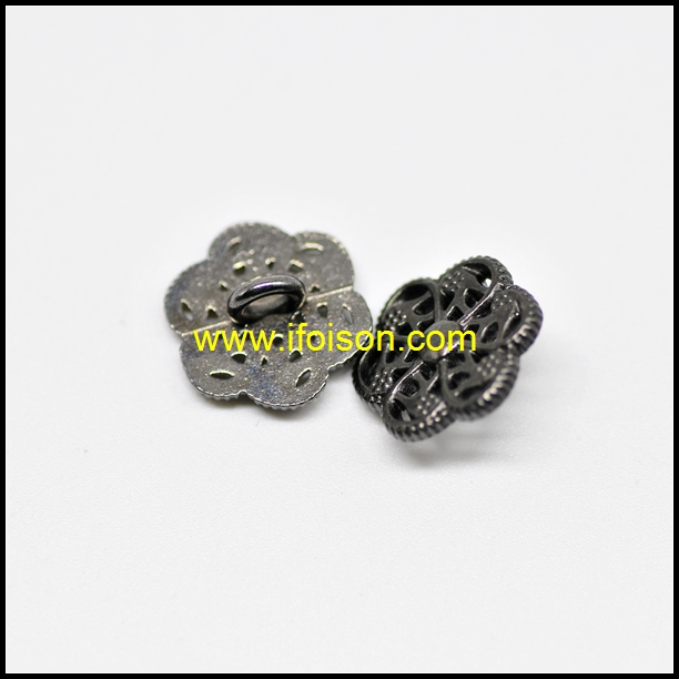 Flower shape Metal Shank Button for Coat