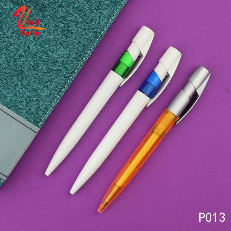 Promotional Red Color Plastic Ball Pen with Cheap Items
