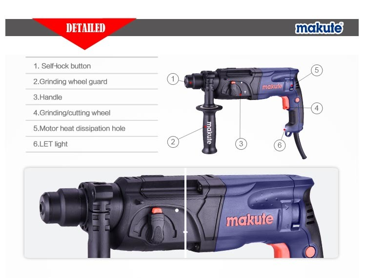 780W 24mm Makute Rotary Hammer Drill