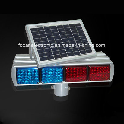 Solar Power Police Lightbar, LED Strobe Lightbar
