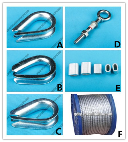 European Type Commercial Electro Galvanized Wire Rope Thimble