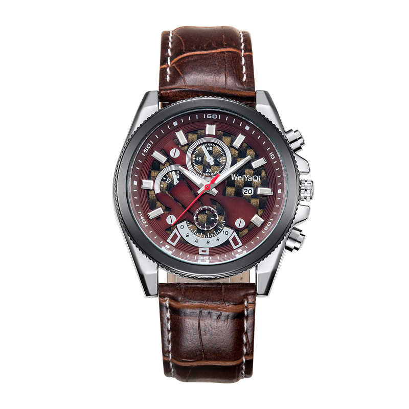 Fashion Multifunction Mens Watch with 3eyes Pushers