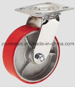 4inch Heavy-Duty Iron PU Swivel Caster Wheel