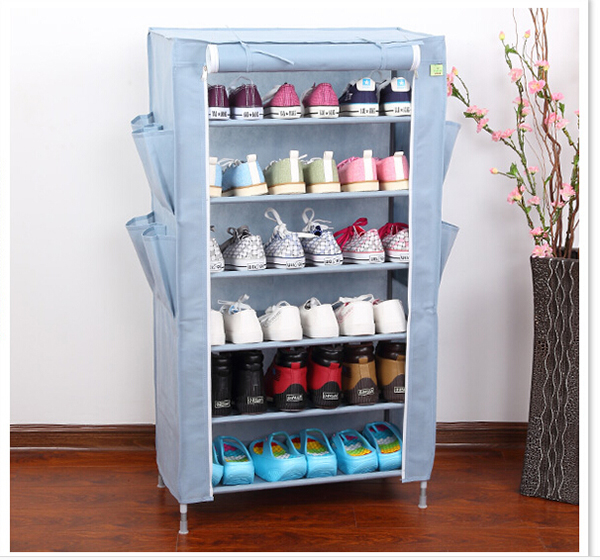 Folding DIY Display Stand Shoe Storage Organizer Cabinet