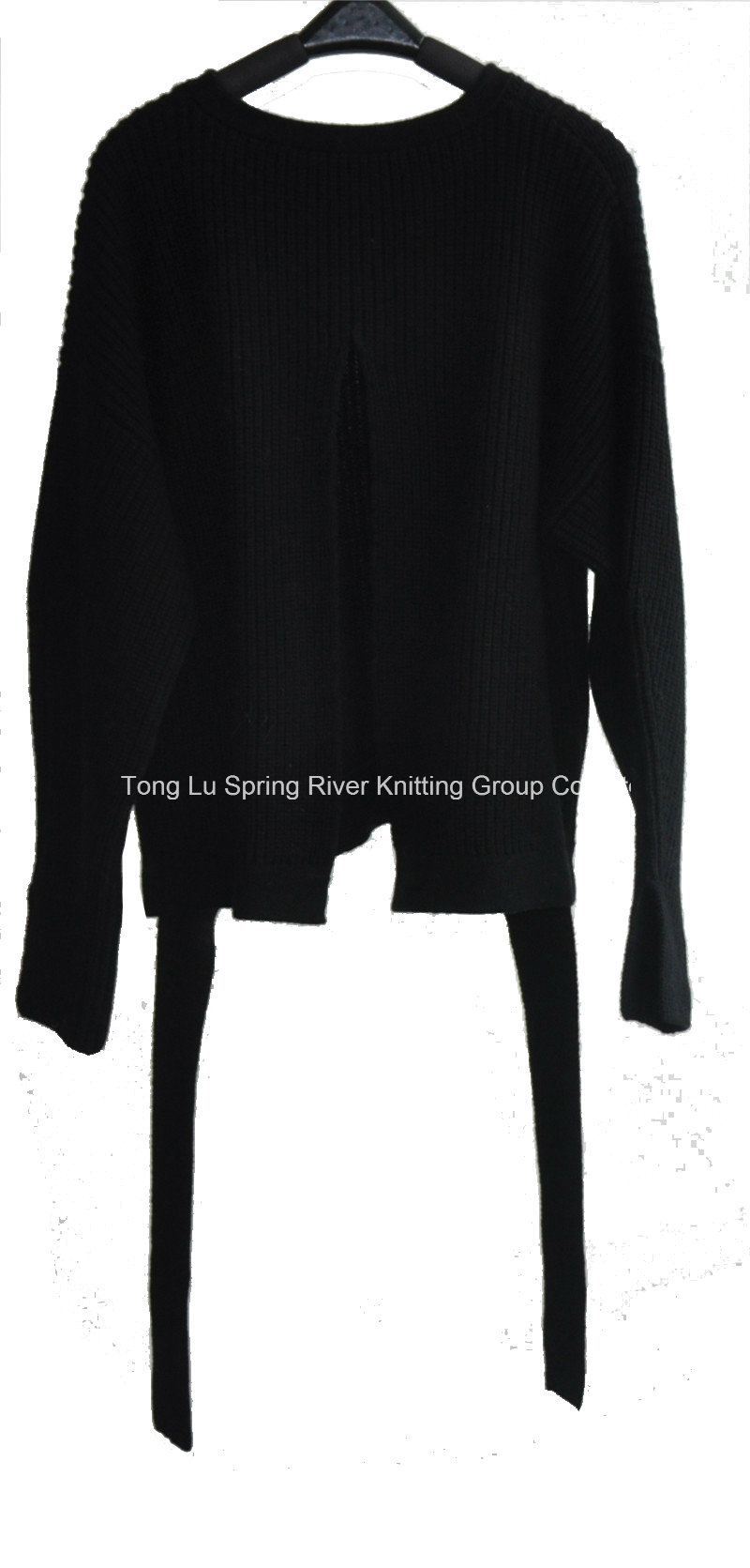 Winter Pure Color Knit Back Slipt Sweater for Ladies