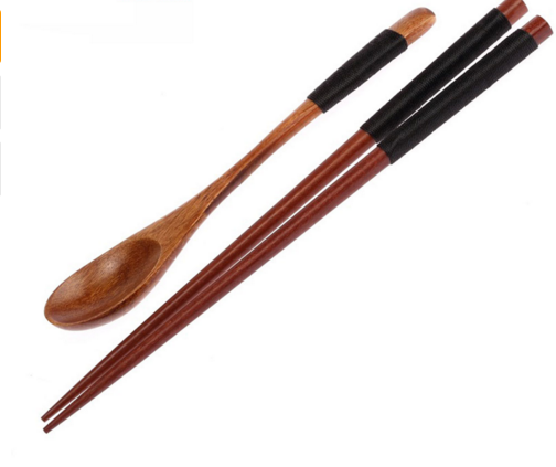 Wooden Spoon Chopsticks Set