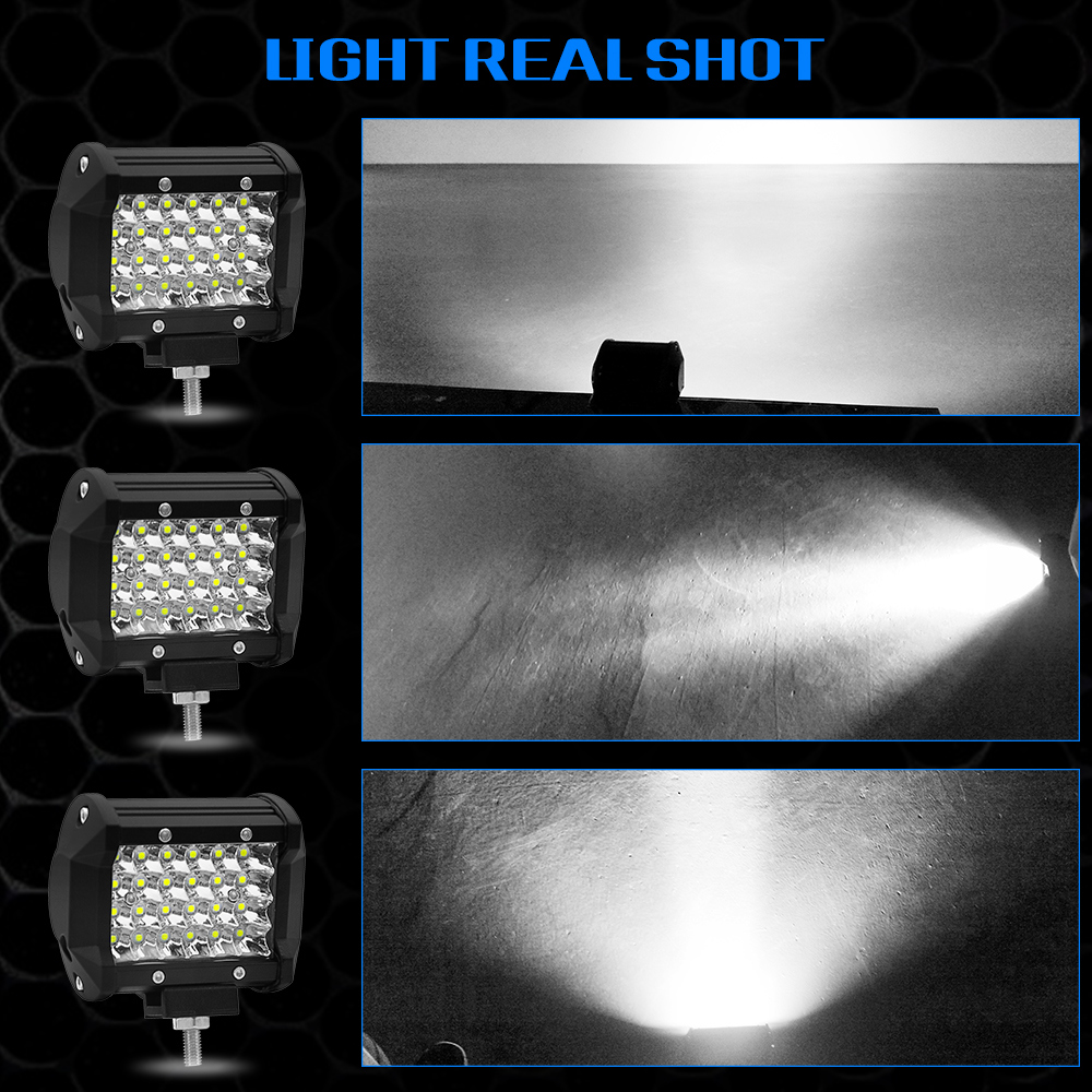 off-Road 4X4 LED Light Bar 12V 24V LED Auto Marine Accessories 18W 72W LED Work Light