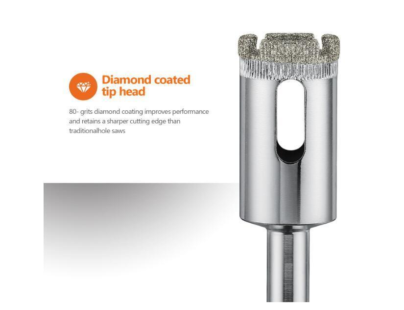 Conjunto de ferramentas de conjunto removedor de extrator oco de brocas de diamante com serra de furo de broca com 10 pacotes
