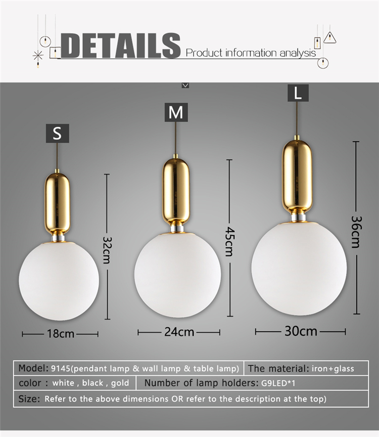 LED Lights Modern Simple Dining Rooms Living Rooms Pendant Light