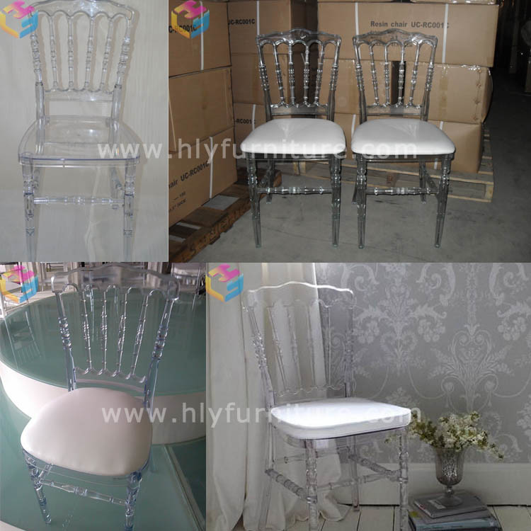 Outdoor Gardern Restaurant Hotel Banquet Plastic Resin Tiffany Chiavari Chair