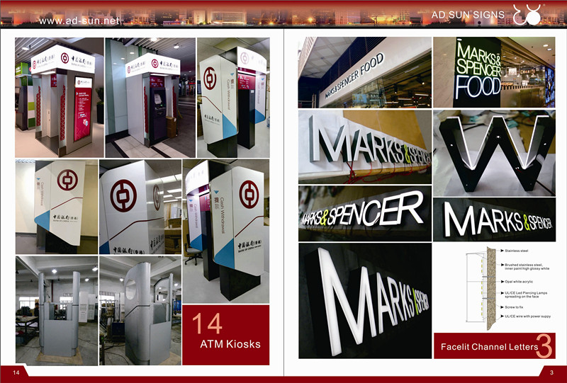 Store Advertising Front-Lit Epoxy Resin LED Channel Letters Sign Alphabet Sign