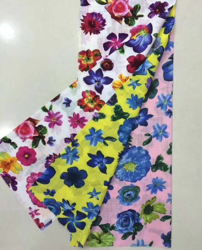 Flower Print Woven Fabric