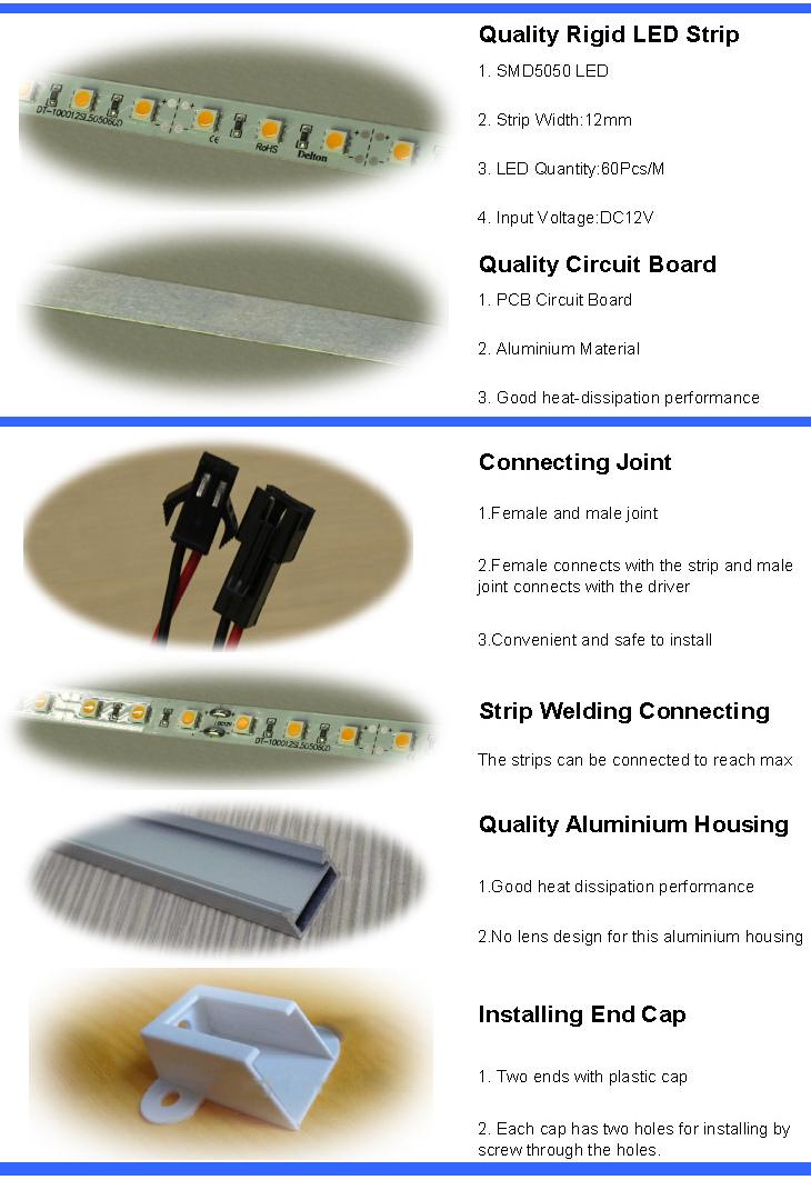 DC12V Aluminum Profile LED Bar Light for Cainte and Showcase Lighting